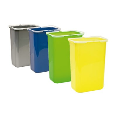 Trio afvalbak met drie compartimenten for Contenitori immondizia ikea
